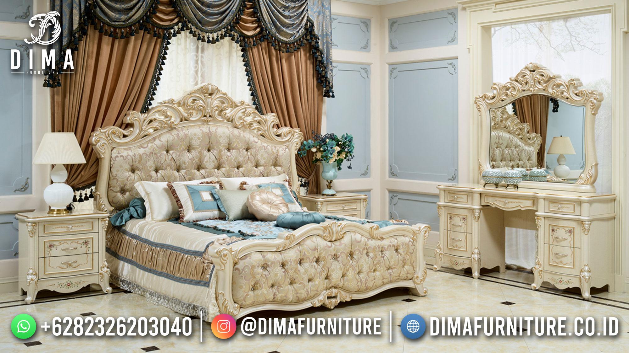 New Tempat Tidur Mewah Ukiran Luxurious Design Excellent Color ST-1405