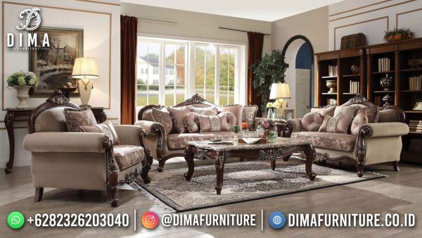 Sofa Tamu Jepara Natural Jati Classic Luxury Combination Color ST-1447