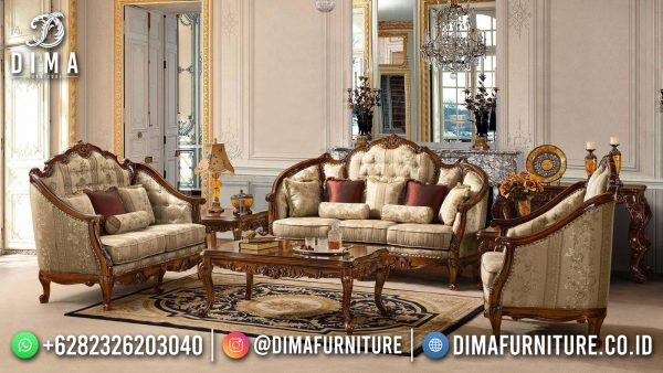 Sofa Tamu Jepara Terbaru, New Set Sofa Tamu Mewah Classic Luxury Carving ST-1448