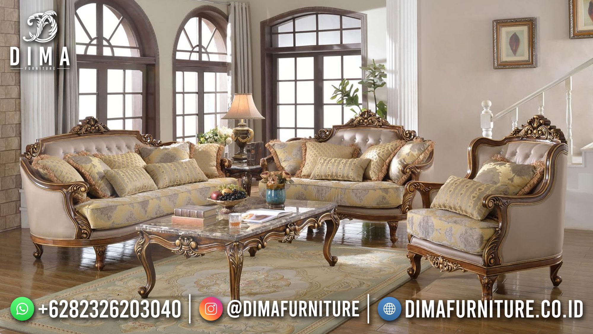 Sofa Tamu Mewah Jepara Luxury Classic Excellent Color Terbaru ST-1437