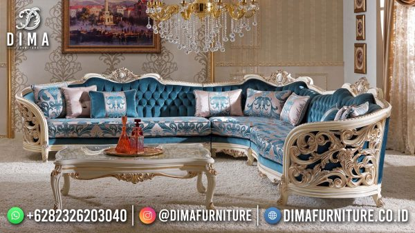 Sofa Tamu Mewah Terbaru Luxury Carving New Furniture Jepara ST-1460