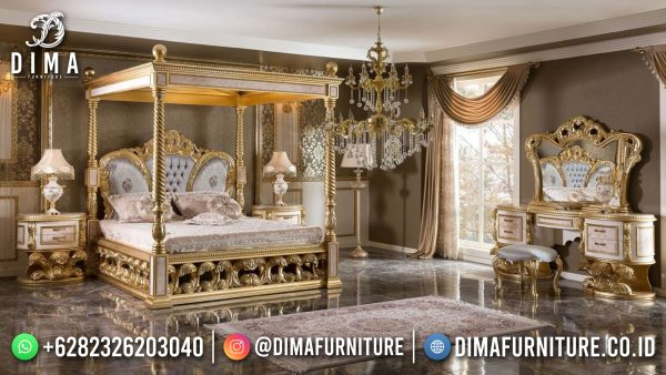 Victorian Style Tempat Tidur Mewah Jepara Luxury Carving High Quality ST-1416