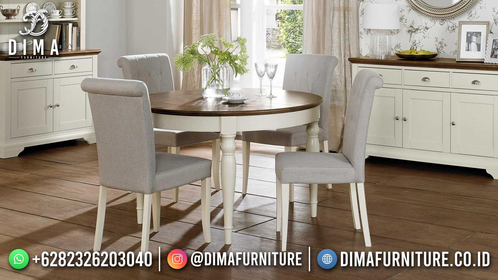 Best Price Meja Makan Minimalis Bundar Furniture Jepara Terbaru ST-1481