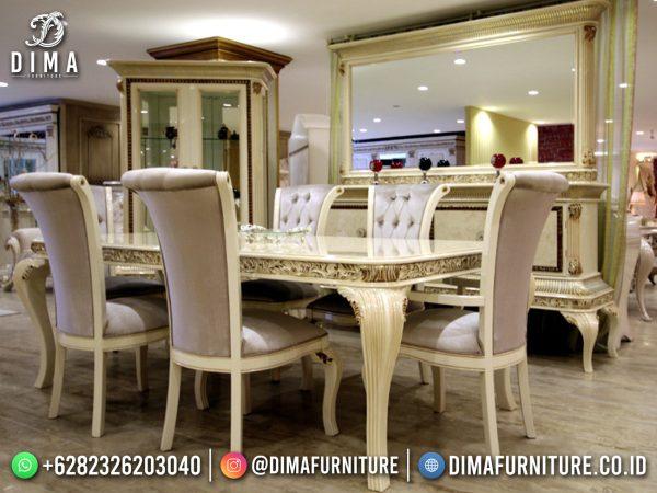 Desain Meja Makan Mewah Terbaru Luxury Duco Color Best Solid Wood ST-1490