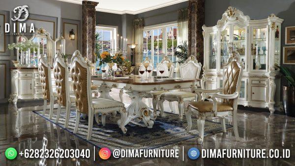 Empire Style Meja Makan Mewah Jepara Luxury Art Duco Best Seller 2021 ST-1464