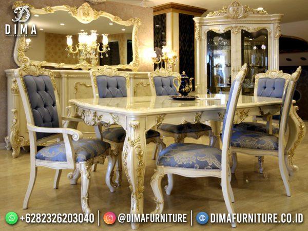 Great Meja Makan Mewah Jepara Golden Duco Classic Luxury ST-1487