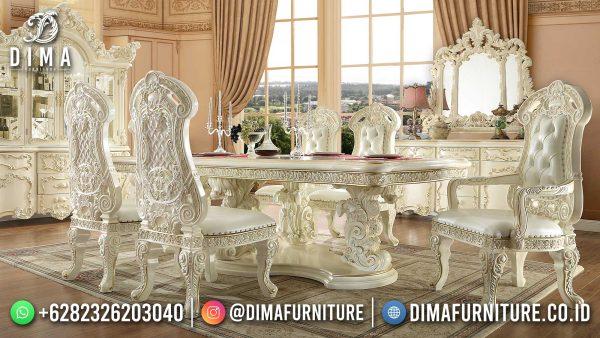 Harga Meja Makan Ukiran Jepara Luxury Elegant Carving Artistic Model ST-1465