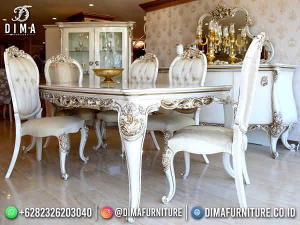 Harga Set Meja Makan Mewah Terbaru Luxury Carving High Quality ST-1488