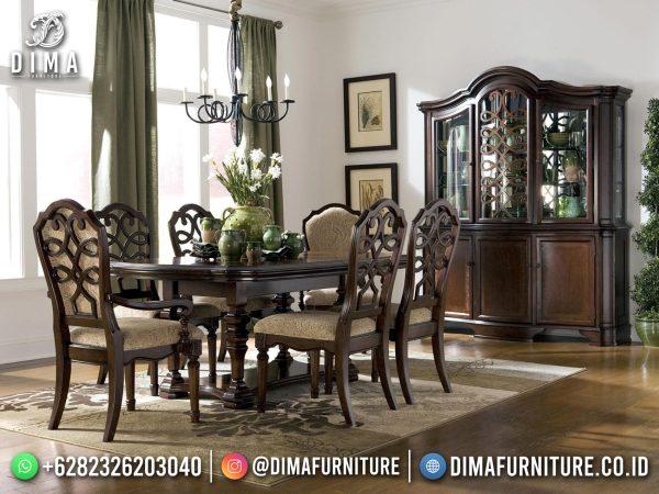 Jual Meja Makan Mewah Jati Classic Luxury Best Seller ST-1486