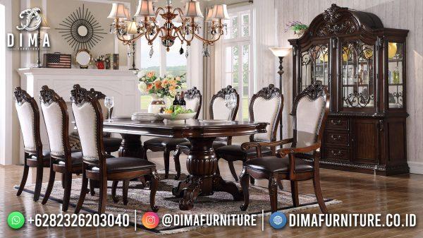 Jual Set Meja Makan Mewah Klasik Luxury Best Sale ST-1495
