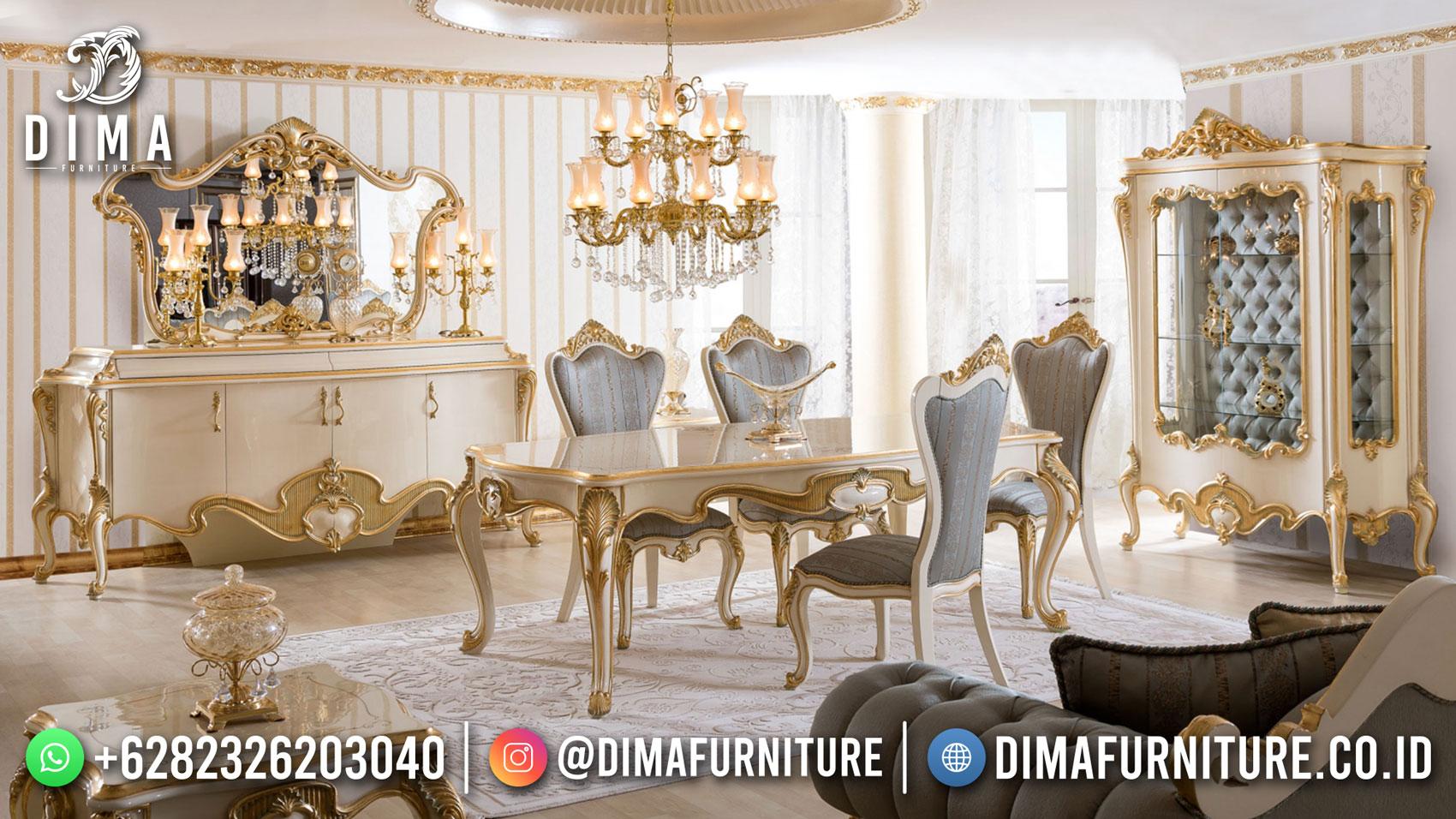 Luxury Meja Makan Mewah 6 Kursi New Furniture Jepara ST-1492