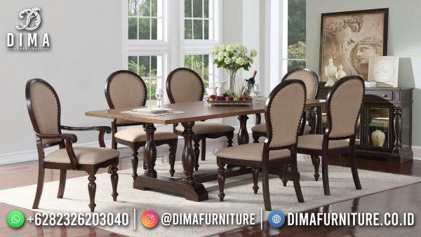 Meja Makan Minimalis Jati Natural Classic Simple Design New Style ST-1478