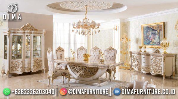 New Meja Makan Mewah Jepara Luxury Carving Furniture Jepara Terbaru ST-1472