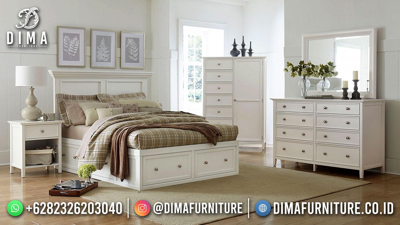 Best Price Kamar Set Minimalis Jepara White Duco St-1554
