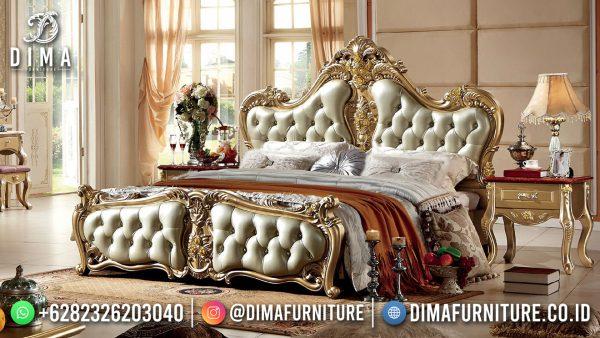 Best Sale Tempat Tidur Mewah Ukiran Klasik Jepara Terbaru ST-1548