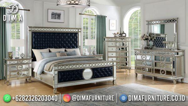 Black Elegant Design Tempat Tidur Mewah Mirror Combination ST-1532