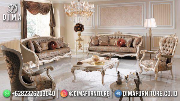 Desain Sofa Tamu Mewah Klasik Great Solid Wood New Style ST-1506