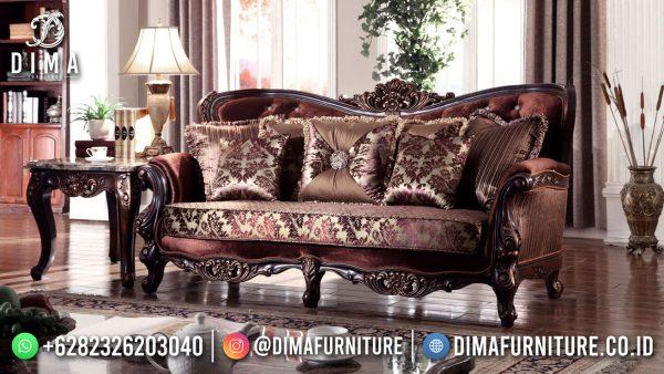 Jual Sofa Tamu Mewah Jepara Classic Luxury Natural Jati Perhutani ST-1514