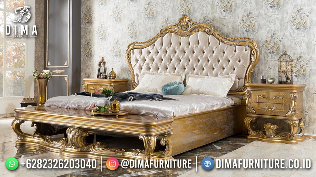 Jual Tempat Tidur Jepara Luxury Carving Gold Rustic Natural ST-1535