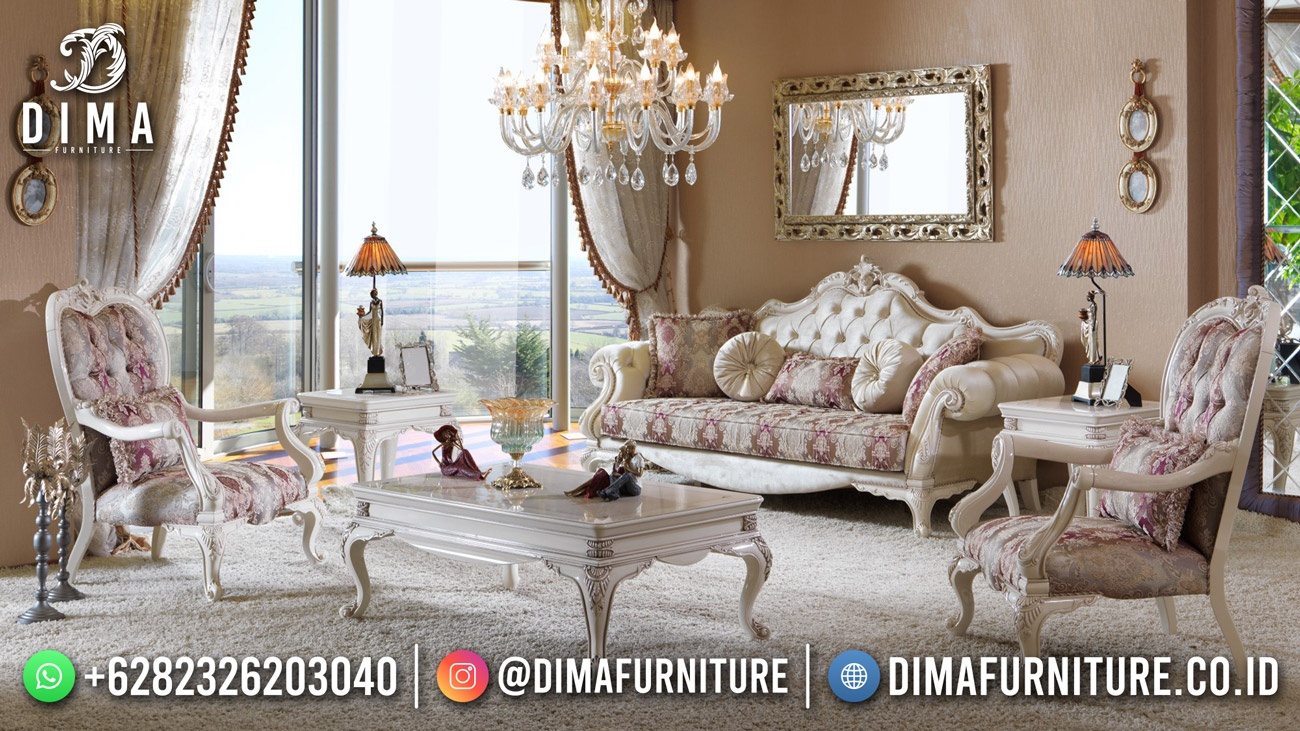 Kursi Sofa Tamu Mewah Classic Luxury Elegant Set Interior Design ST-1505