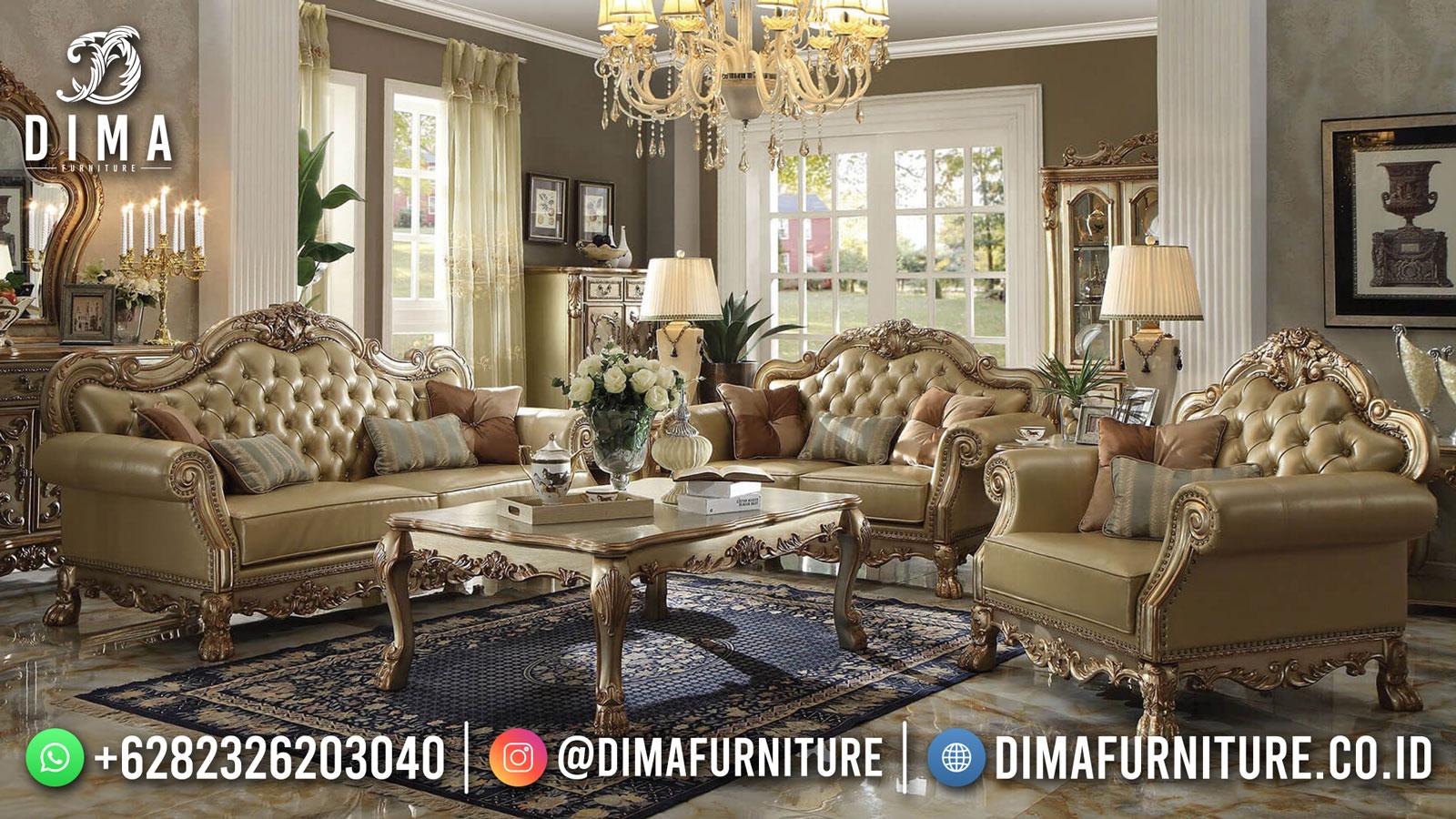 Kursi Sofa Tamu Ukir Mewah Jepara Luxury Golden Classic Color Greatest ST-1510
