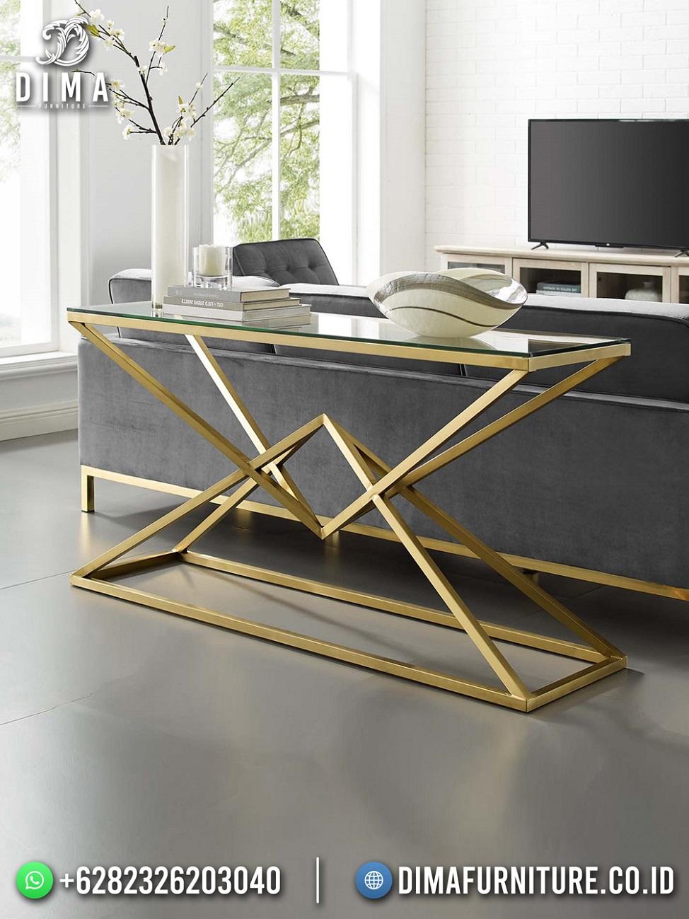 Meja Konsul Minimalis Modern Luxury Stainless Steel Golden Shine ST-1520
