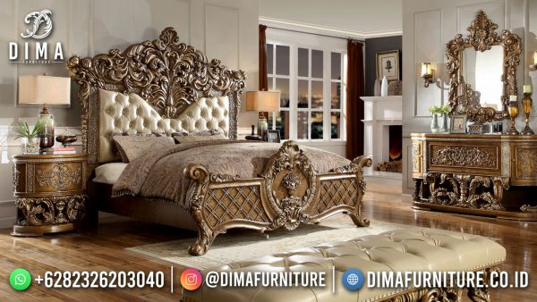 Model Tempat Tidur Mewah Ukiran Classic Luxury Empire Style ST-1543