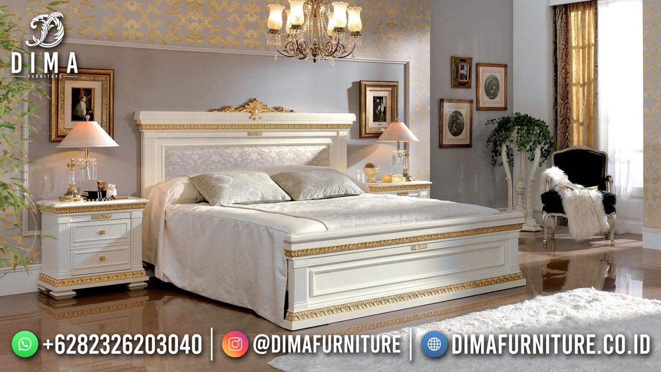 Rich White Tempat Tidur Mewah Klasik Jepara Good Quality ST-1533