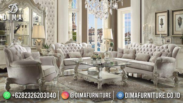 Sofa Tamu Mewah Jepara White Duco Combine Luxury Excellent Color ST-1508
