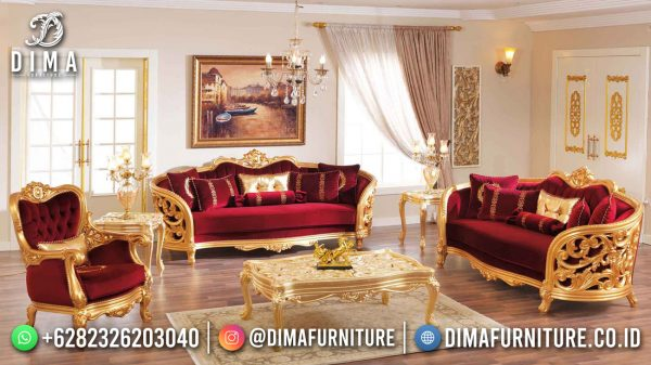Sofa Tamu Mewah Terbaru New Golden Shine Duco Elegant Color ST-1503