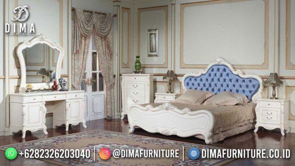 Tempat Tidur Mewah Putih Duco Glamorous Style Furniture Jepara Update ST-1553