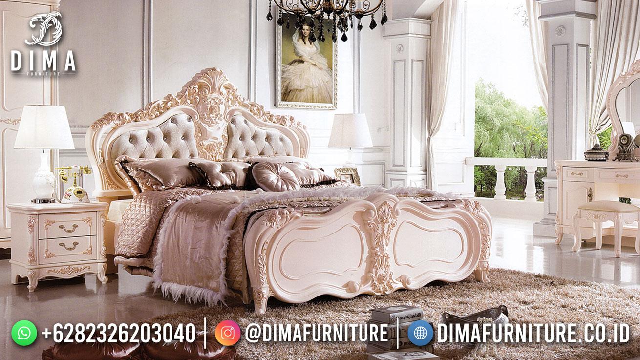 Tempat Tidur Ukiran Mewah Klasik Elegant Style Great Solid Wood Perhutani ST-1530