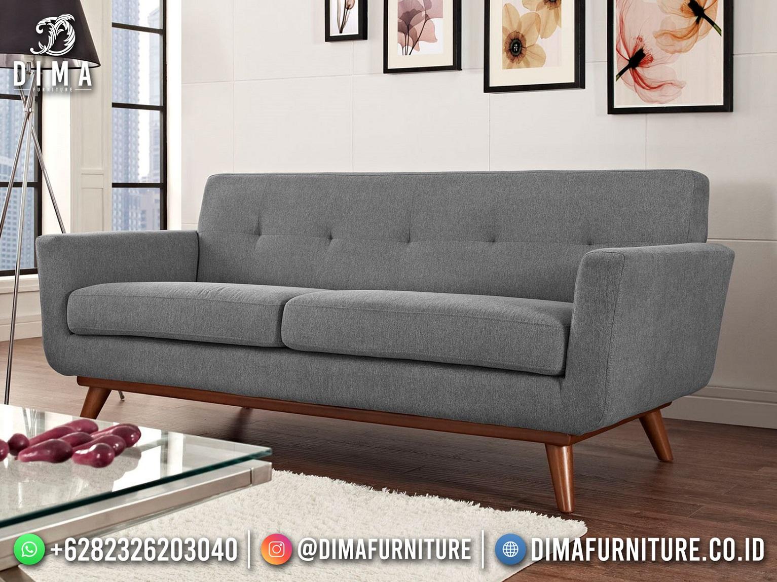 Desain Sofa Minimalis Jepara Beauty Soft Grey ST-1582