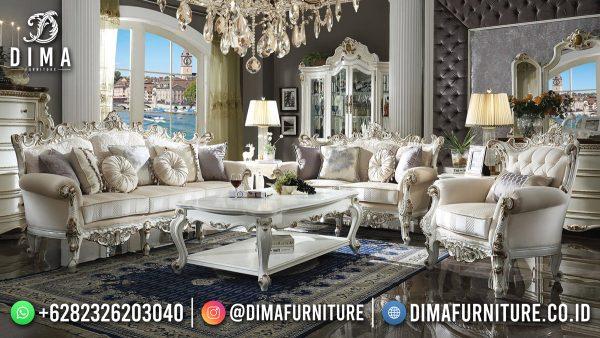Jual Sofa Tamu Terbaru Jepara White Duco Luxury Carving ST-1591