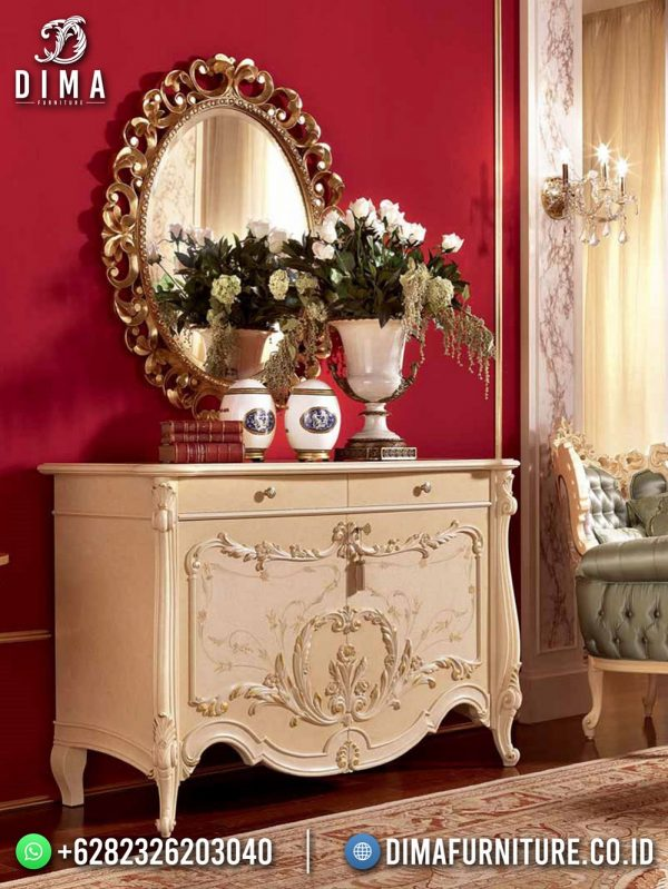 Stefany White Meja Konsul Jepara Best Quality Duco Combine ST-1584