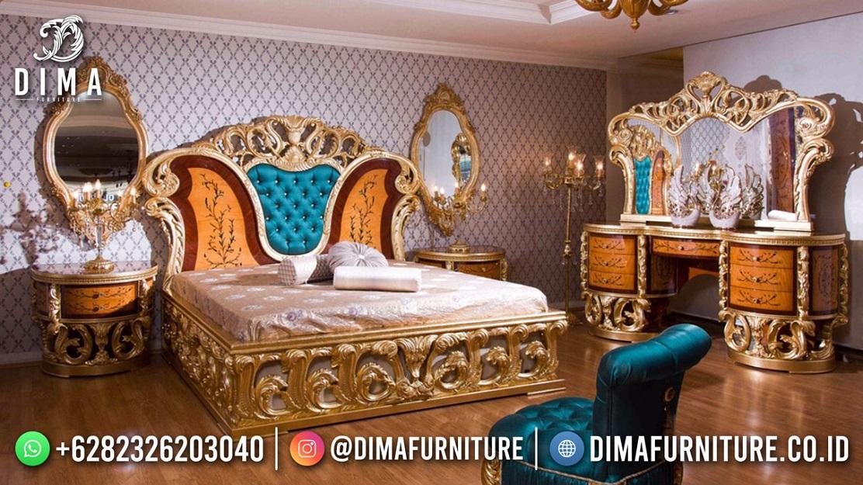 Tempat Tidur Mewah Jepara Terbaru Luxury Glamour Design ST-1575
