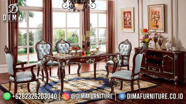 Terbaru Meja Makan Jati Jepara Mewah Klasik Furniture ST-1574
