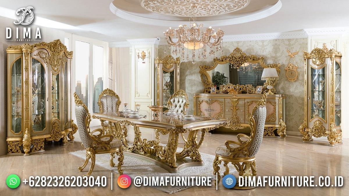 Epic Desain Meja Makan Mewah Terbaik Luxury Carving Golden ST-1601