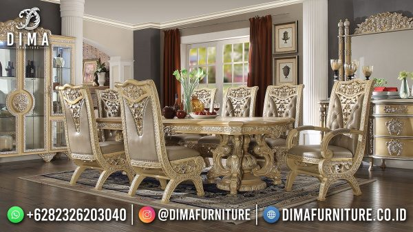 Epic Set Meja Makan Mewah Bangsawan Luxury Carving ST-1600