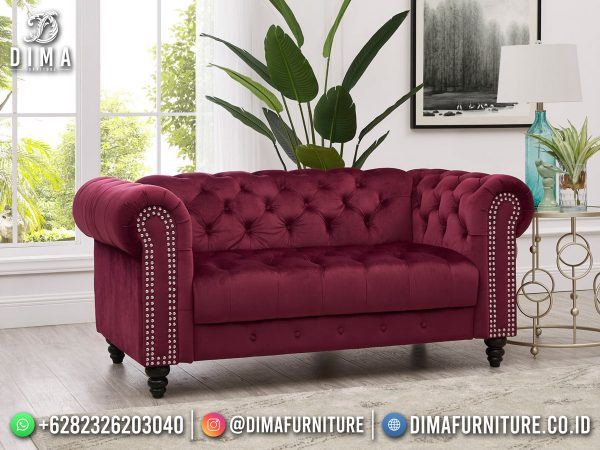 Harga Kursi Tamu Minimalis Terbaru Beauty Maroon Best Quality ST-1613