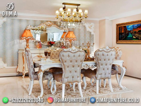 Harga Meja Makan Mewah Ukiran Classic Luxury Best Sale September 2021 ST-1623