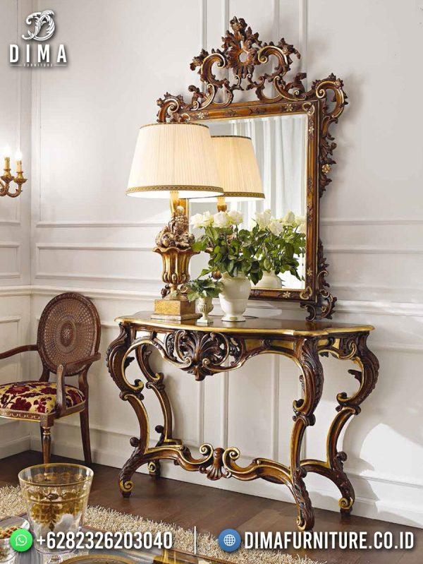 Jual Meja Konsul Mewah Klasik Jati Elegant Brown Natural Best Product ST-1628