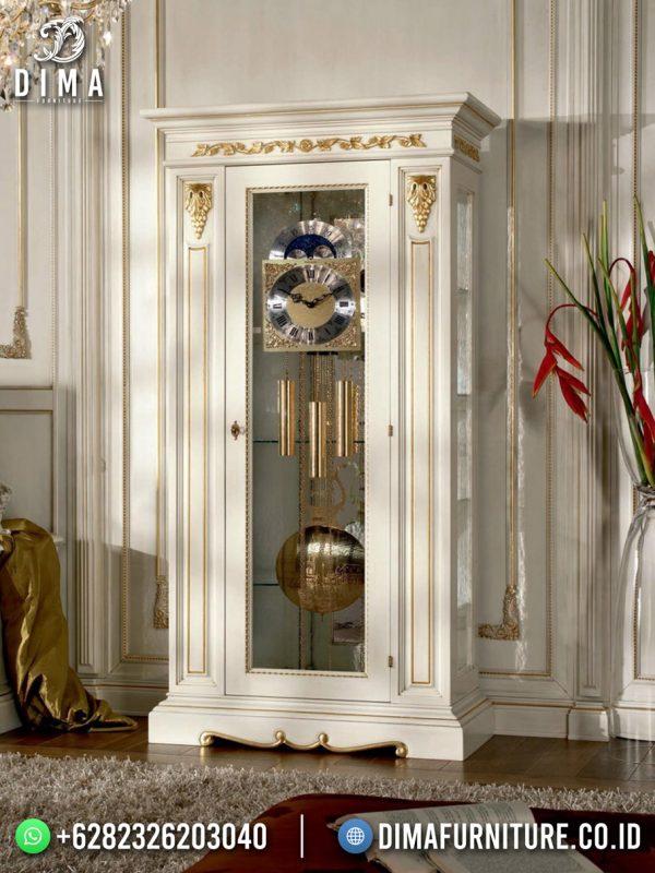 Lemari Hias 1 Pintu White Gold Duco Classy Luxury ST-1604