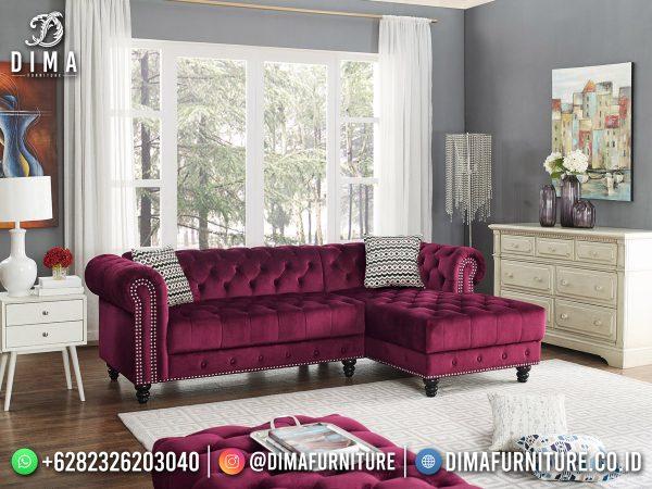 Loveseat Sofa Sudut Chester Terbaru Luxury New Product ST-1612
