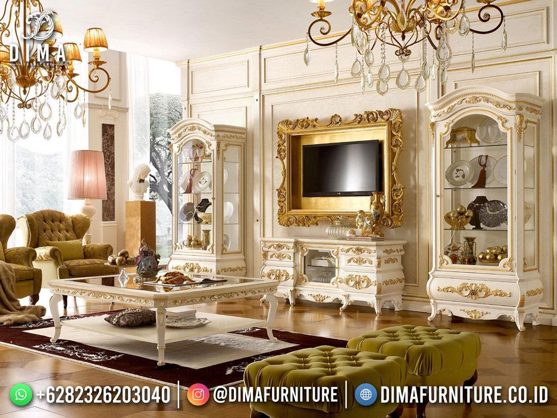 Palace Desain Bufet TV Mewah Ukiran Luxurious Golden Combination Art Duco ST-1620