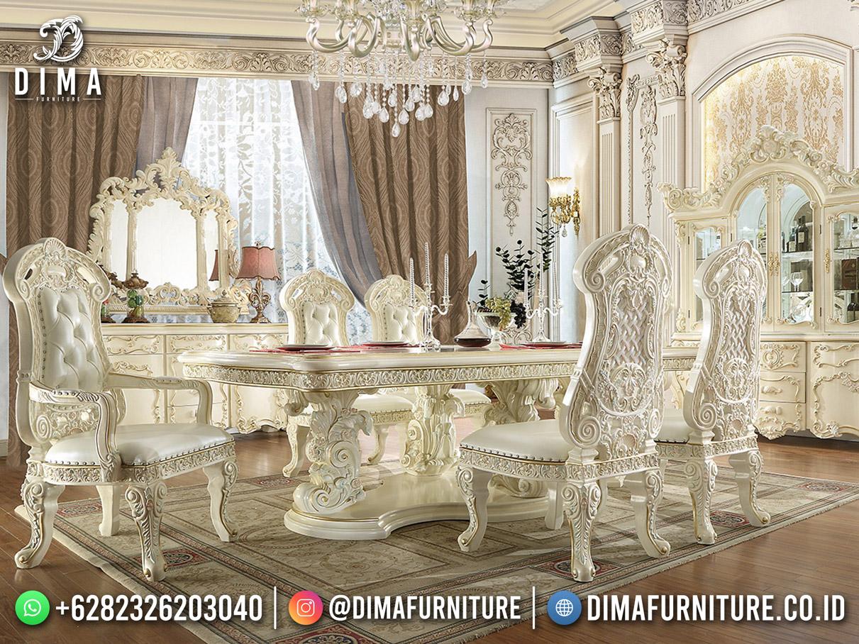 Shabby Luxury Meja Makan Mewah Modern Furniture Jepara ST-1638