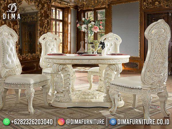 Termewah Set Meja Makan Terbaru Jepara Luxury Carving Italian Empire Style ST-1625