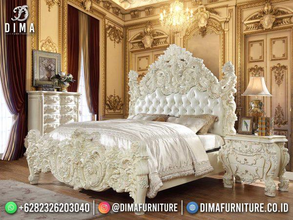 Harga Kamar Set Terbaru Ukiran Super Mewah White Duco Top Design ST-1655